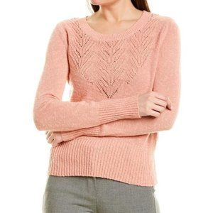 1. State Pointelle Jersey Knit Sweater